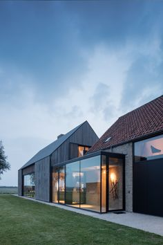 Bed and Breakfast in a Converted Belgium Bunker Anyone? Bed and Breakfast in a Converted Belgium Bunker Anyone? Modern Barn House, Modern Bungalow, Design Exterior, Modern Exterior, House Extensions, Home Fashion, Bed And Breakfast, Breakfast Ideas, Interior Architecture