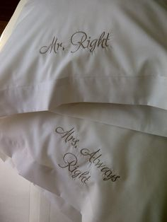 Pillowcase sets-embroidered and heat pressed, pillows, bath and hand towels, throws. Goodies for bedroom, bed and bathroom. Bed & Bath, Pillowcases, Hand Towels, Bed Pillows, Pillow Shams, Pillows, Pillow Case Dresses, Pillow Covers, Cushion Covers