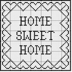 "Filet Crochet 76507 ""Home Sweet Home"" Filet Sampler Crochet Patterns Filet, Crochet Tunic Pattern, Embroidery Patterns, Cross Stitch Charts, Cross Stitch Designs, Cross Stitch Patterns, Cross Stitching, Cross Stitch Embroidery, Hand Embroidery"