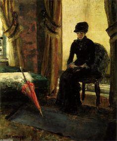 James Ensor - le somber demoiselle noble  la  demoiselle noble  dans  noirs