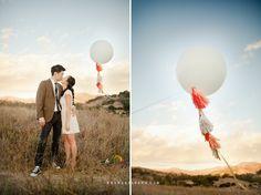© Erin J Saldana Photography // erinjsaldana.com ~ malibu balloon engagement session