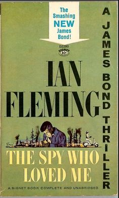 Classic James Bond Book Art.