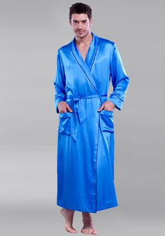 Edgeless seam is for comfortable fit and an intimate touch with silk. To  hide the. Men s RobesBlue CurtainsNaraMan CavePajamasTowelsLight ... ae27e40f7