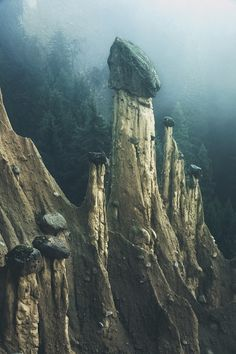 Rock formations in South Tyrol, photo by Kilian Schonberger.