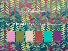 Spring Summer 2019 trend forecasting is A TREND/COLOR Guide that offer seasonal inspiration & key color direction for Women/Men's Fashion, Sport & Intimate Apparel