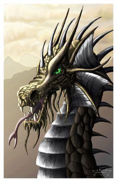 Golden Dragon by LouiseGoalby.deviantart.com on @deviantART