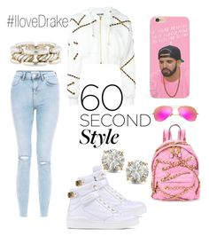 """""""I love Drake"""" by felicitysparks ❤ liked on Polyvore featuring New Look, Moschino, Ray-Ban, David Yurman, Auriya, DRAKE, views and 60secondstyle"""