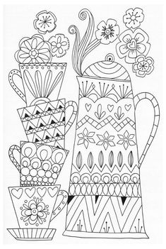 #tea #pitcher #drawing #teapitcherdrawing Scandinavian Coloring Book Pg 55:: Sports Coloring Pages, Coloring Book Pages, Printable Coloring Pages, Coloring Sheets, Coloring Pages For Adults, Coloring Worksheets, Alphabet Worksheets, Embroidery Patterns, Hand Embroidery