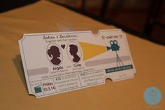 invitations #movietheme #hollywood #weddinginvite Hotel Lafayette, Buffalo NY www.shweddingphotos.com