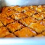 The Pioneer Woman's Baklava. I love how simply she sets out the instructions for this complicated dessert. My father loves baklava -- and hates cake! I should try and make this for his birthday...