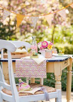celebración en el jardín