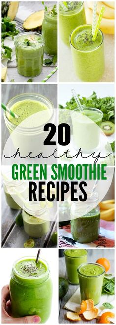 Green smoothies are a quick way to get your veggies in each day. Here's 20 Green Smoothie Recipes to get you going in the morning!