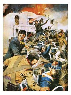 Alamo Movie, Wild West, Revolution, Battle, Texas, Portraits, War, History, Prints