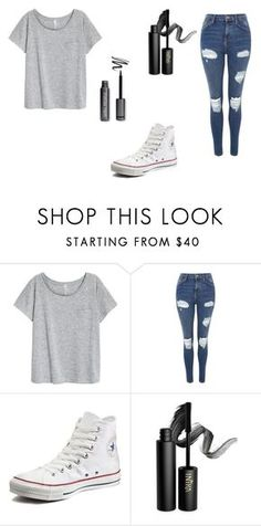 """""""Outfit Of The Day #4"""" by pawlicki16 on Polyvore featuring Topshop, Converse and INIKA"""