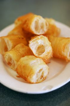 Chinese cruller fried bread stick or Chinese doughnut
