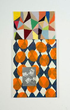 Fiona CurranCome Up For Air, 2011Needlepoint, acrylic on panel, found image600 × 300mm