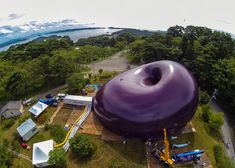 Ark Nova inflatable concert hall by Arata Isozaki and Anish Kapoor