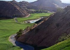 Falcon Ridge Golf Course, great place in mesquite.  One of our favorite places to golf in Nevada