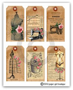 45 Ideas for sewing room vintage pictures Éphémères Vintage, Vintage Labels, Vintage Ephemera, Vintage Paper, Vintage Roses, Sewing Cards, Sewing Notions, Hang Tags, Vintage Sewing Patterns