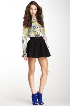 Maison Blanche Woven Skater Skirt by Skirts, Shorts & Crops on @HauteLook