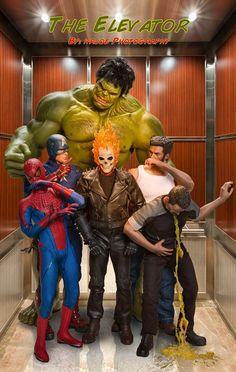 O fotógrafo Edy Hardjo usou bonecos e photoshop para mostrar heróis em momentos pouco heroicos.