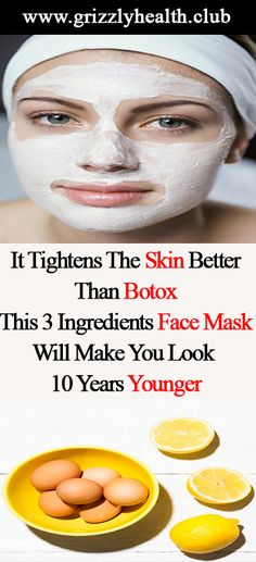 Remedies For Flawless Skin It Tightens The Skin Better Than Botox: This 3 Ingredients Face Mask Will Make You Look 10 Years Younger Natural Skin Tightening, Skin Tightening Mask, Homemade Face Masks, Homemade Skin Care, Acne Face Mask, Cosmetic Treatments, Skin Treatments, Natural Health Tips, Younger Skin
