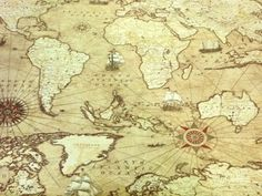 Compass Ships Map Pacific Ocean Nautical Anchor By TheFabricShopUK GBP1399