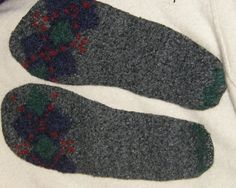 Thick felted shoe insole inserts For men  by mcleodhandcraftgifts