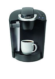 Keurig.. love them.. the my k cups rock!  I have this one in the kitchen and the smaller one in red up in my master bath and will also use for the RV.  Great for not only hot stuff but iced also!