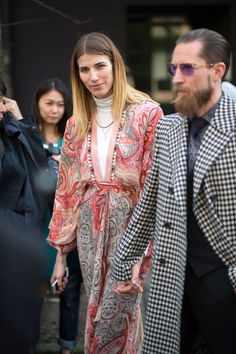 Best Milan Fashion Week Street Style Fall 2015 - Street Style from Milan Fashion Week Milan Fashion Week Street Style, Autumn Street Style, Street Chic, Boho Fashion, Autumn Fashion, Fashion Outfits, Fashion Design, Stylish Couple, Moda Boho