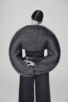 My work focuses on exploring the knit techniques to find ways to develop them and push them forward. When an idea of a knit structure suggests new shapes, silhouettes and methods of constructing garments, I am exactly where I want to be.
