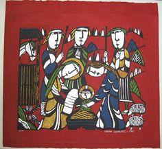 Nativity  Artist:Sadao Watanabe  Description::Color Stencil