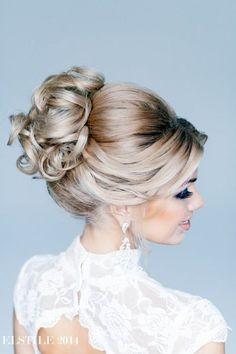 Classic Updo   Feminine Bridal Hair http://www.pinterest.com/modestbride/