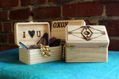 Such a simple and sweet way to store keepsakes, jewelry or handwritten notes.