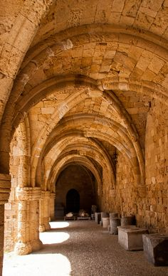 Rhodes archaeological museum the medieval building of the Hospital of the Knights. At present photo. Historical Architecture picture by Svetap. Greece Rhodes, Beautiful Places In The World, Historical Architecture, Ancient Greece, Greece Travel, Greek Islands, Mykonos, Wonders Of The World, Medieval