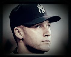 The Captain, Mr. Derek Jeter, New York Yankees, closeup Cute Baseball Hats, Baseball Treats, Baseball Game Outfits, Baseball Games, Cute Hats, Baseball Players, Softball Shirts, Home Sport, Derek Jeter