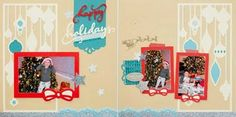 Lisa's Stamping & Scrapping Spot: Artbooking Made Easy: Christmas Layouts
