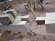 Dovetail #timberframe #oak Castle Ring Oak Frame