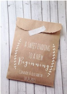 Wedding Cookie Bags Laurel Rustic Candy Buffet by DetailsonDemand... wedding favors???