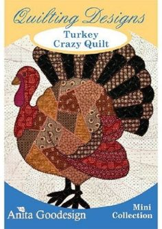 Turkey crazy Quilt Anita Goodesign Embroidery Design, Instant Download,  Pes, Hus,  format von Factoembroidery auf Etsy