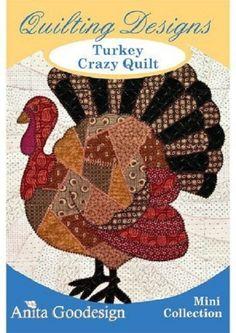 Turkey crazy Quilt Anita Goodesign Embroidery Design, Instant Download,  Pes, Hus,  format von Factoembroidery auf Etsy