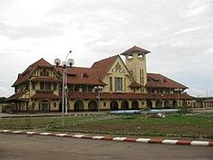 Pointe-Noire Railway station — in Pointe-Noire, the Republic of the Congo. Le Point, Republic Of The Congo, National Parks, Mansions, World, House Styles, City, Places, Train Stations