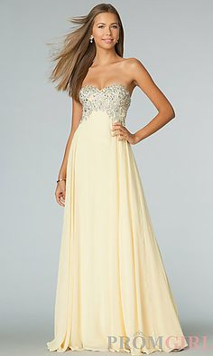Floor Length Strapless Sweetheart JVN by Jovani Dress at PromGirl.com