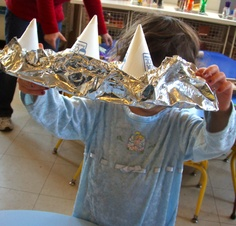"""Boat-making inspired by the book """"Who Sank the Boat? by Pamela Allen"""