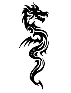 Body is close Dragon Decal - Immortal Graphix Tribal Dragon Tattoos, Chinese Dragon Tattoos, Skull Tattoos, Forearm Tattoos, Life Tattoos, Sleeve Tattoos, Dragon Tattoo Neck, Body Tattoos, Hand Tattoos