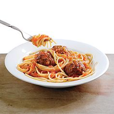 You can't go wrong with this classic family favorite of Spaghetti and Meatballs. We amp up jarred marinara with charred onion, garlic, and plum tomatoes.