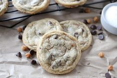 Salted Caramel Chocolate Chip Cookies | @Maria (Two Peas and Their Pod)
