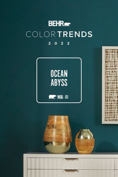 Bring the calm of the open sea into your home with Ocean Abyss, October's Color of the Month.