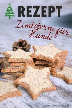 Zimtsterne für Hunde backen www.genkibulldog.de