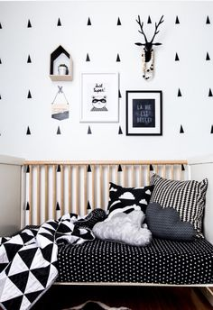 Black and white monochrome nursery by NotSewStrange